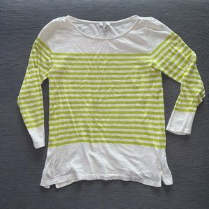 Joie mid sleeve striped crew neck sweater small